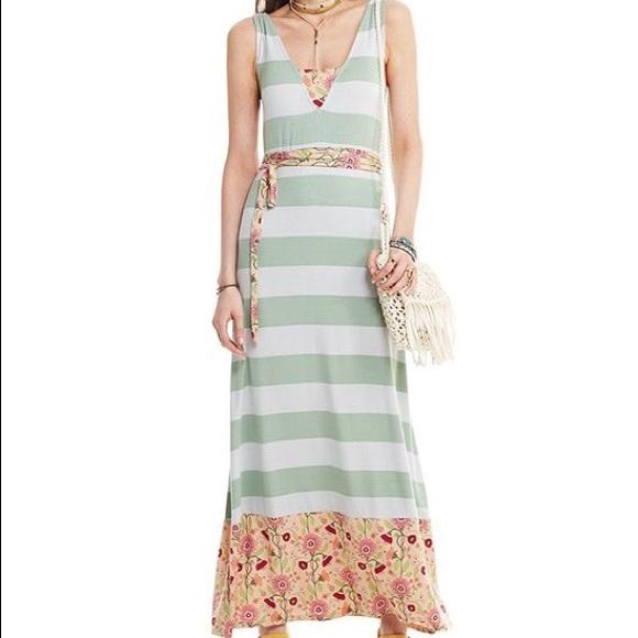 6bc01e617ac Matilda Jane green and floral maxi dress! NWT!